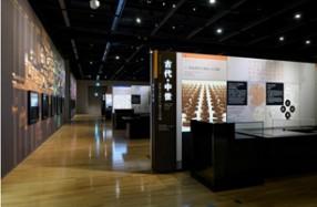 リニューアル後の常設展示 「印刷の日本史」古代・中世ゾーン