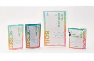新開発した強密着接着剤「TOPMERTM」によりレトルト・ボイル・電子レンジ対応が可能になった製品サンプル © Toppan Printing Co., Ltd