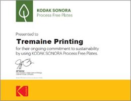 SONORA Plate Green Leaf Certificate認定書見本
